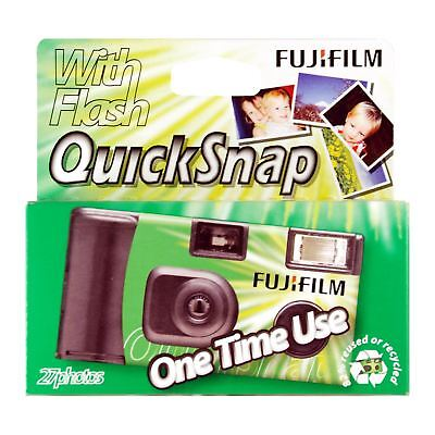 Fujifilm 27 Exposure 35mm Film One-Time-Use QuickSnap Disposable Flash Camera