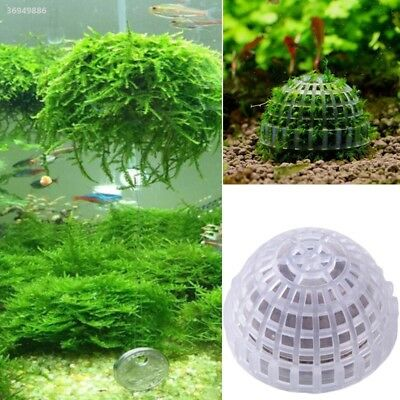 Aquarium Fish Tank Decor Decorations Media Moss Ball Live Plant Filter 43DF
