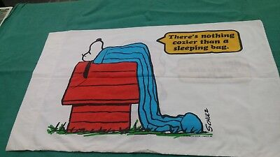Vtg 1971 Snoopy and Linus Pillowcase  Peanuts