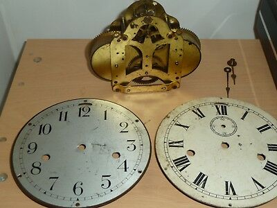 Seth Thomas No 10 ships clock movement with hands & dials