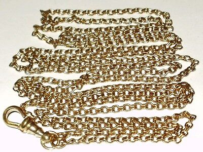 Antique Victorian 9Ct Rolled Gold Guard Muff Chain