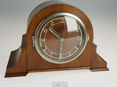Vintage Westminster Chime Napoleon hat mantle clock with key & pendulum. (F)