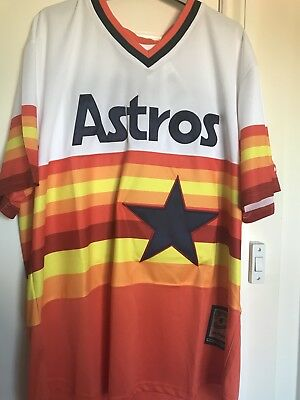 Houston Astros Baseball Jersey Shirt Rainbow Springer MLB XL Cubs Mets Yankees