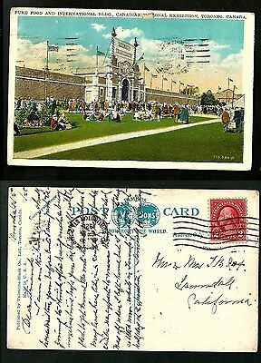 Canada V.old   Postcard /u.s.a Stamp 1928-Canadian Nat.exhibition Toronto-Rare