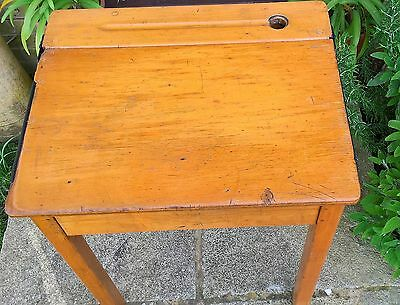 Original Wooden School Desk Single Ols Vintage Antique Classic