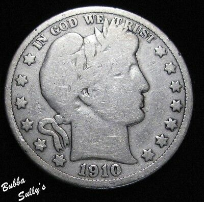 1910 Barber Half Dollar <> VERY GOOD