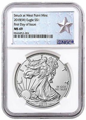 2018-(W) Silver Eagle Struck at West Point NGC MS69 FDI Silver Star SKU54588