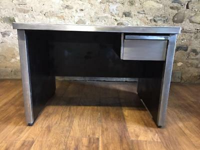 Stunning Very Stylish Vintage Mid Century Stripped Metal Desk  Office Desk