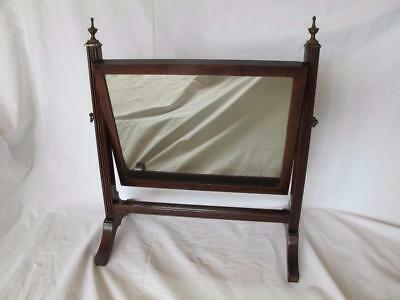 Chic Antique Edwardian Regency Style Swing Frame Dressing Table / Toilet Mirror