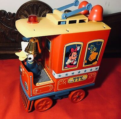 Vintage 1960s Donald Duck Trolley by Modern Toys, Japan, NOS in box, works great