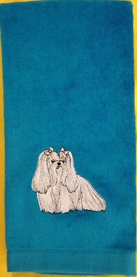 Maltese, Hand Towel, Embroidered, Custom, Personalized, Dog