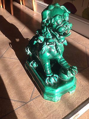 Gondia Chinese Blue Green Large Door Guardian Lion Dog, feng shui Ornament.