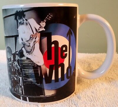 """3.75"""" The Who Rock Band Coffee Mug Live Nation 2011 Roger Daltrey Pete Townsend"""