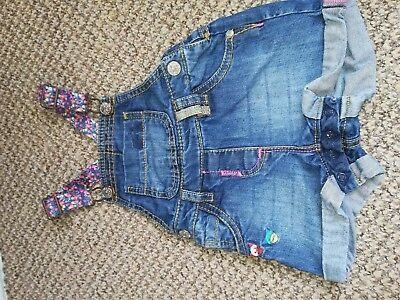 Baby Girls Short Dungarees 9-12 months
