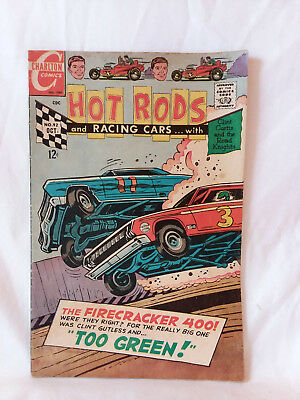 Charlton Comics 1968, Hot Rods & Racing Cars #92, GD+, vintage stock car auto ..