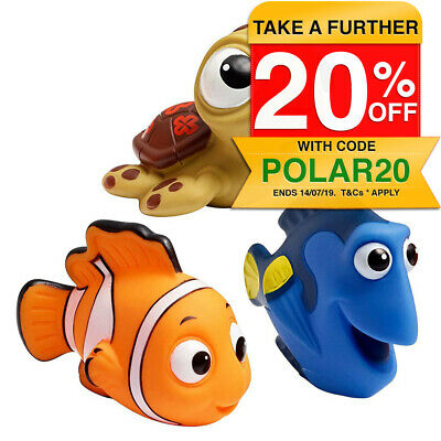 3PK Disney Finding Nemo Dory Squirt Bath/Shower Water Toys Float for Baby/Kids