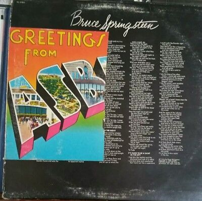 Bruce springsteen greetings from asbury park new jersey classic rock bruce springsteen greetings from asbury park nj lp m4hsunfo