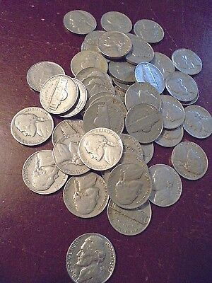 48 Mix Of Jefferson Nickels-1939 Thru 1959-Not Consecutive Dates-Closeout-P-D-S!
