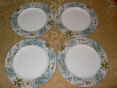 Royal Doulton Everyday 1996 Wildflowers 4 Dinner Plates