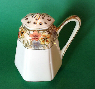 Nippon Noritake Sugar Shaker -  Hand Painted With Gold Moriage Beading - Japan
