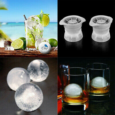 Ice Ball Cube Maker Sphere Mold 2.5 INCH Round Jelly Mould Set Cocktail Whiskey