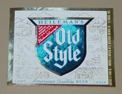 1 older beer label from Wisconsin, Heileman Old Style 12 oz.