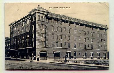 Iona Hotel Guthrie OKLAHOMA *B/W OLD EARLY 1908*