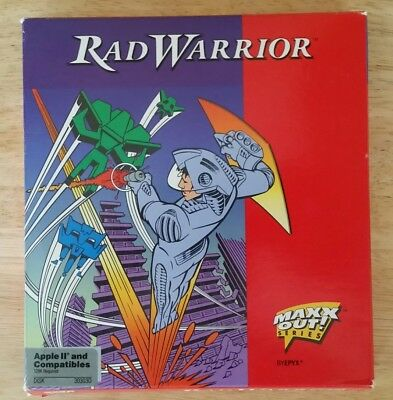 "Vintage Apple ll ""Rad Warrior"" EPYX Computer Game Box Only RARE"