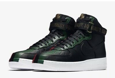 Nike Air Force One 1 High BHM QS Equality Black Red Green 836227-002 Size 9