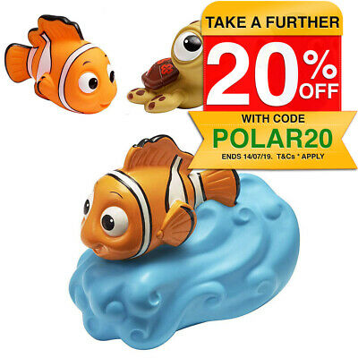 Disney Finding Nemo Baby/Kids Shower Bath Tub Tap Handle Spout Cover/Squirt Toy