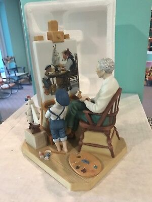 "Norman Rockwell 1985 ""Another Masterpiece"" Figurine Limited Edition 5000"