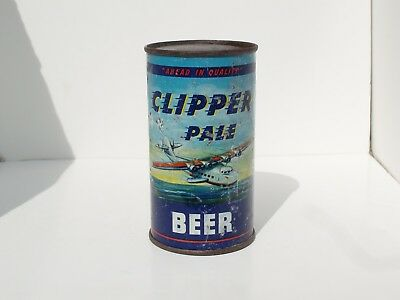 Super Rare Clipper Pale Beer Flat Top Beer Can Grace Bros. Los Angeles