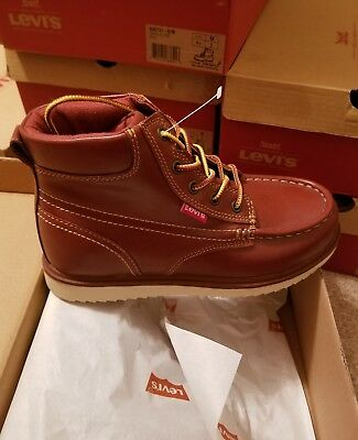 Levi's Boy Size 2 Boots Style Dean Ultra Color Red Texas New 546731- 01R
