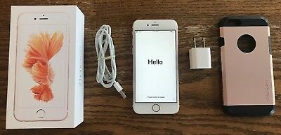 Apple iPhone 6S Rose Gold 16GB A1633 US Cellular Used Original Box Works Perfect