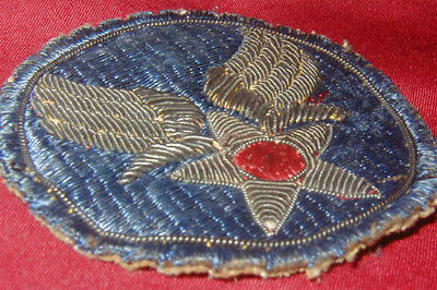 Original WWII Theater Made USAAF patch - Bullion on Cotton Variation