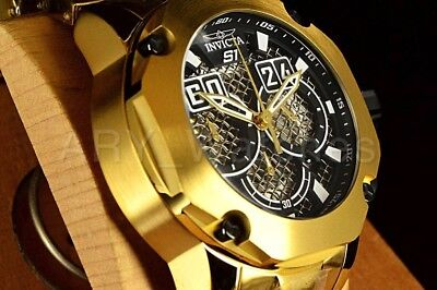 25296 Invicta S1 Rally Gold Black Twisted Metal Stainless Steel Bracelet Watch