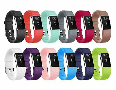 12 Pack S/L Replacement Wristband For Fitbit Charge 2 Band Silicone Fitness