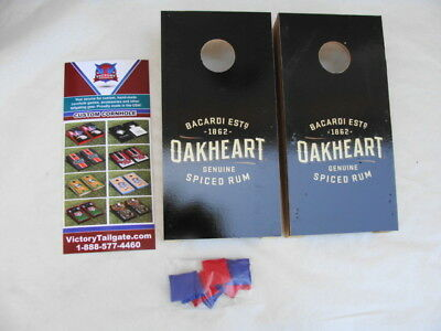 Lot of 10 Victory Tailgate Oakheart Bacardi Spiced Rum Cornhole Tabletop Game