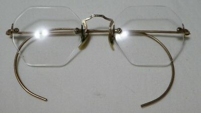 Octagon 10K Wire-less Rimmed Glasses Deco