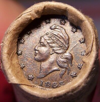 1898 Indian/civil War Token Ends Mixed Antique Roll As Shown In Pictures #9231