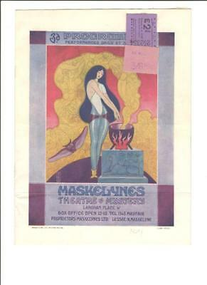 Maskelynes Theatre Of Mystery,chinese Conjuring,magic Show,london Program,c1921