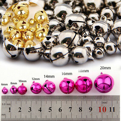 100pcs 6-12mm Dream Catcher Xmas Colorful Iron Beads Jingle Bells DIY Jewelry ay
