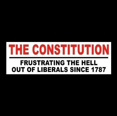 """THE CONSTITUTION: FRUSTRATING LIBERALS"" Anti Democrat STICKER gun rights NRA"