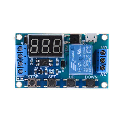 6v-30v Relay Module Switch Trigger Time Delay Circuit Timer Cycle Adjustable H&P