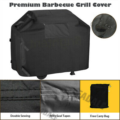 145 cm Heavy Duty BBQ Cover Garden Patio 2 4 Burner Barbecue Grill Storage KQ5YB
