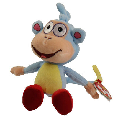 TY Beanie Baby - BOOTS the Monkey (Dora the Explorer) (8 inch) MWMTs Stuffed Toy