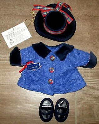 Muffy Vanderbear The Grand Tour Outfit  Jacket Hat  Shoes & Passport