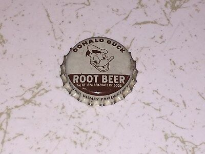Rare Near-Mint Donald Duck Root Beer Cork-Lined Acl Soda Bottle Cap