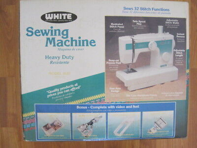 WHITE SEWING MACHINE Model 40 New In Boxbut MISSING Foot Control Best White Sewing Machine 1632
