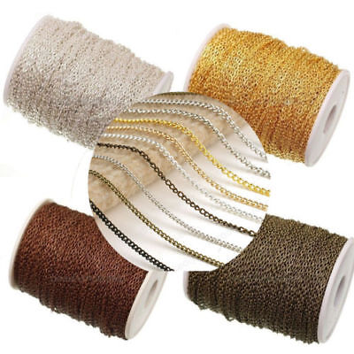 5m/100m 14 Colors Cable Open Link Iron Metal Chain For Jewelry Craft Making PRQ